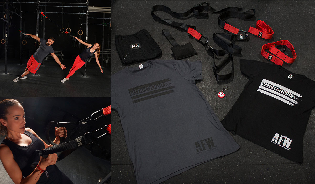 TRX Suspension Training ST2 + Llavero Bumper Competition + Camiseta AFW