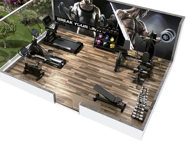 diseño de gym hoteles