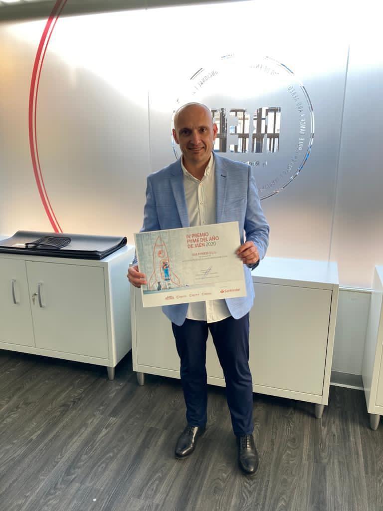 Rafael Rodríguez Gerente Oss Fitness. Premio Pyme del Año de Jaén 2020