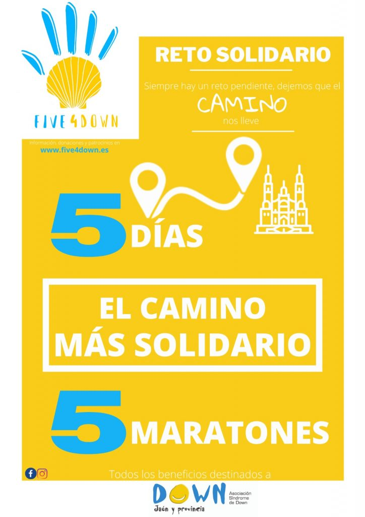 Cartel Five4Down Reto Solidario