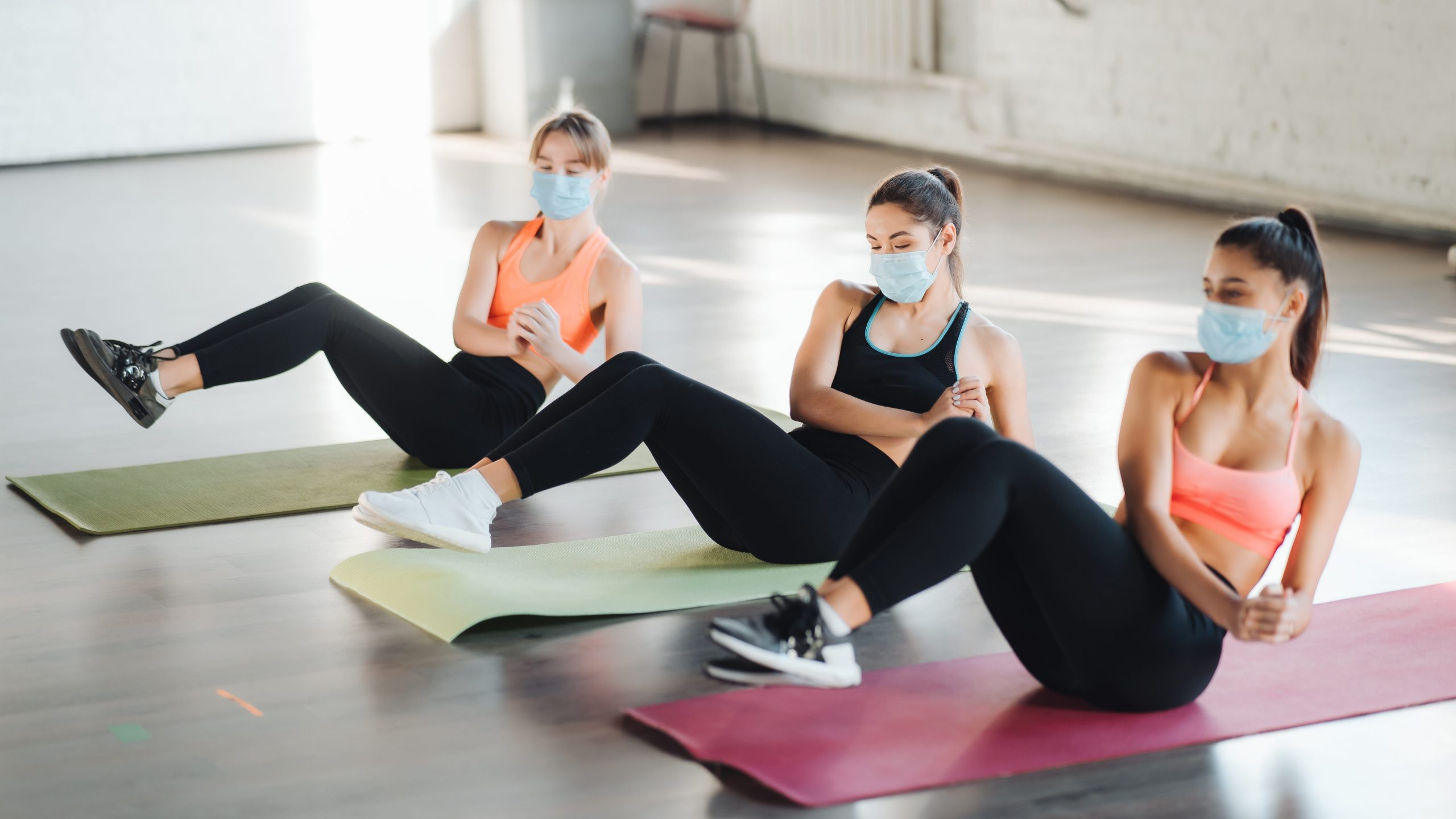entrenamiento en gimnasios con mascarilla