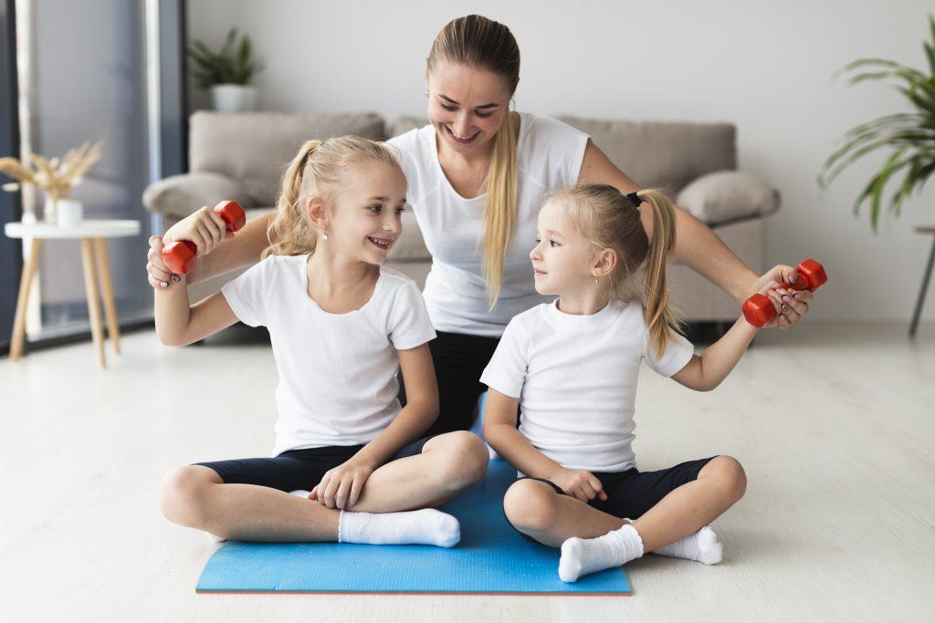 deporte y ejercicio con niños