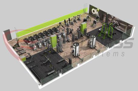 Equipamiento de gimnasio okmas